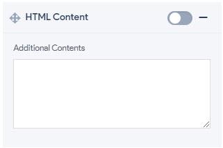 Header Bar - HTML Content