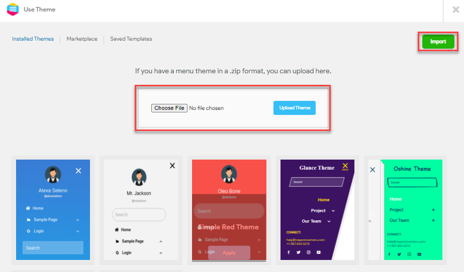 How to Add a Theme to Responsive Menu Method three from Menu Customization 2