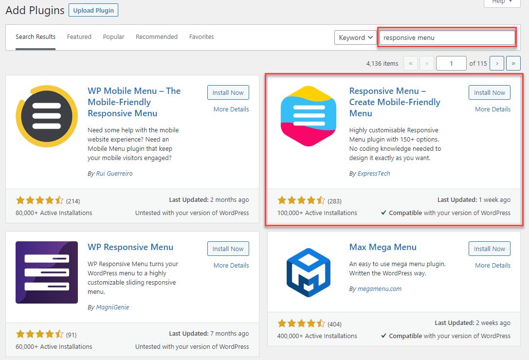 How to Create a Hamburger Menu on a WordPress Website - Installing Responsive Menu