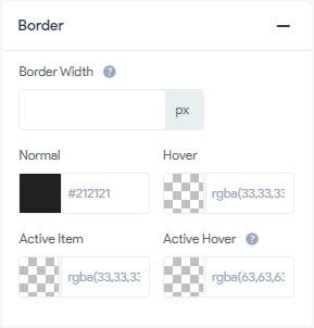 Item Styling - Border