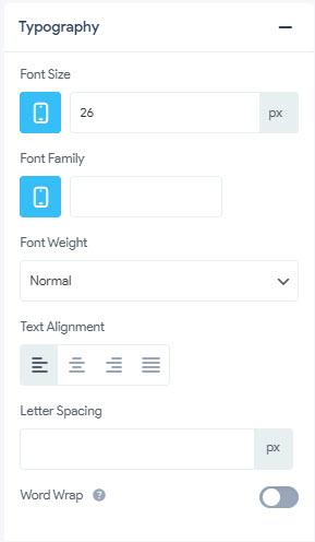 Item Styling - Typography
