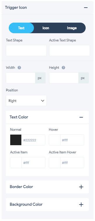 Menu Styling - Trigger Icon
