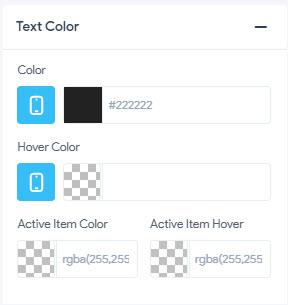 Sub Menu - Text Color