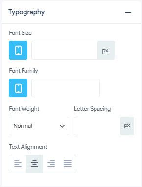 Sub Menu - Typography