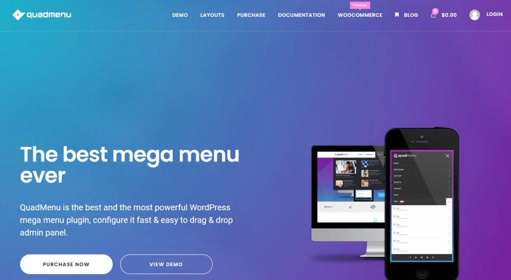 9 Great WordPress Mega Menu Plugins for Better Site Navigation - Quad Menu