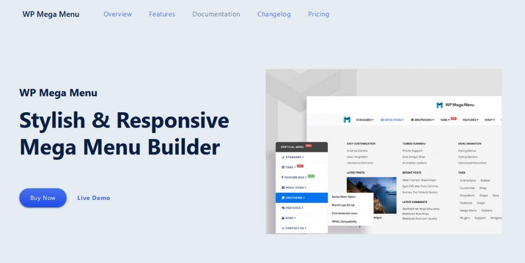 9 Great WordPress Mega Menu Plugins for Better Site Navigation - WP Mega Menu