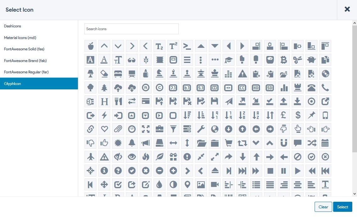 title font icon